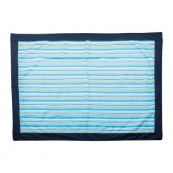 Picnic Rug with Blue, Green and Purple Stripes